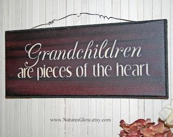 Grandchildren Sign, Grandparents Gift, Gift for Grandma, Gift for Grandparents, Grandma Gift, Grand Kids Sign, Gift for Grandpa, Grandmother