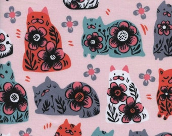 Cotton + Steel - From Porto with Love Collection - Sushi's Antiques in Pink