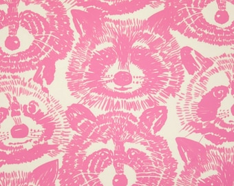 SALE - Alexander Henry - Rocky Raccoon in Pink