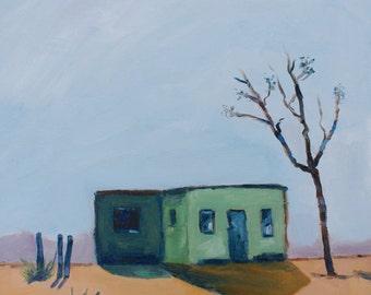 TUCO'S HOUSE, Breaking Bad - 10 x 10 - New Mexico - Adobe - Desert Landscape - Original Oil Painting - Southwest - Landscape - Decor