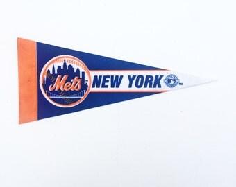 Vintage New York Mets MLB Pennant