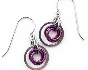 Chelsea Stainless Steel and Niobium Earrings