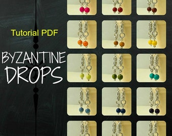 PDF Chainmail Tutorial - Byzantine Drops - Perfect for Beginners