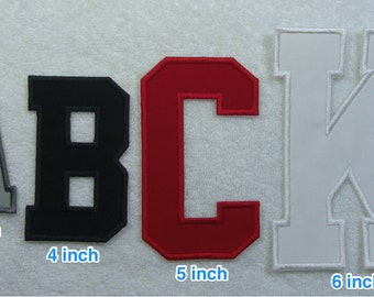 4 Inch College/Varsity Letter/Monogram Fabric Embroidered Iron On Patch MADE TO ORDER
