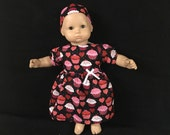Doll Clothes for Bitty Baby Girl Dolls or Bitty Twin Girl Dolls Sweets for My Sweet Heart Cupcake Valentine's Dress