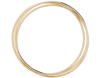 Real Gold Bangles, Solid 14K Gold Bangle, 14K Gold Bangle Bracelets sold individually, Also available in white gold and rose gold
