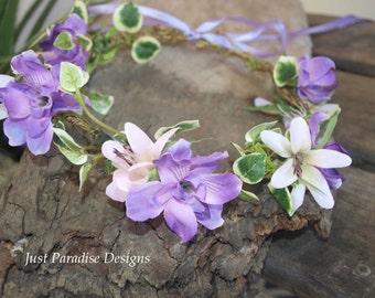 Flower Halo - Crown - Lavender Pink
