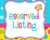 Reserved listing for Kreburn