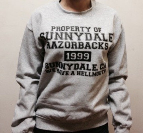 buffy the vampire slayer sunnydale high class of 1999 crew neck sweat shirt
