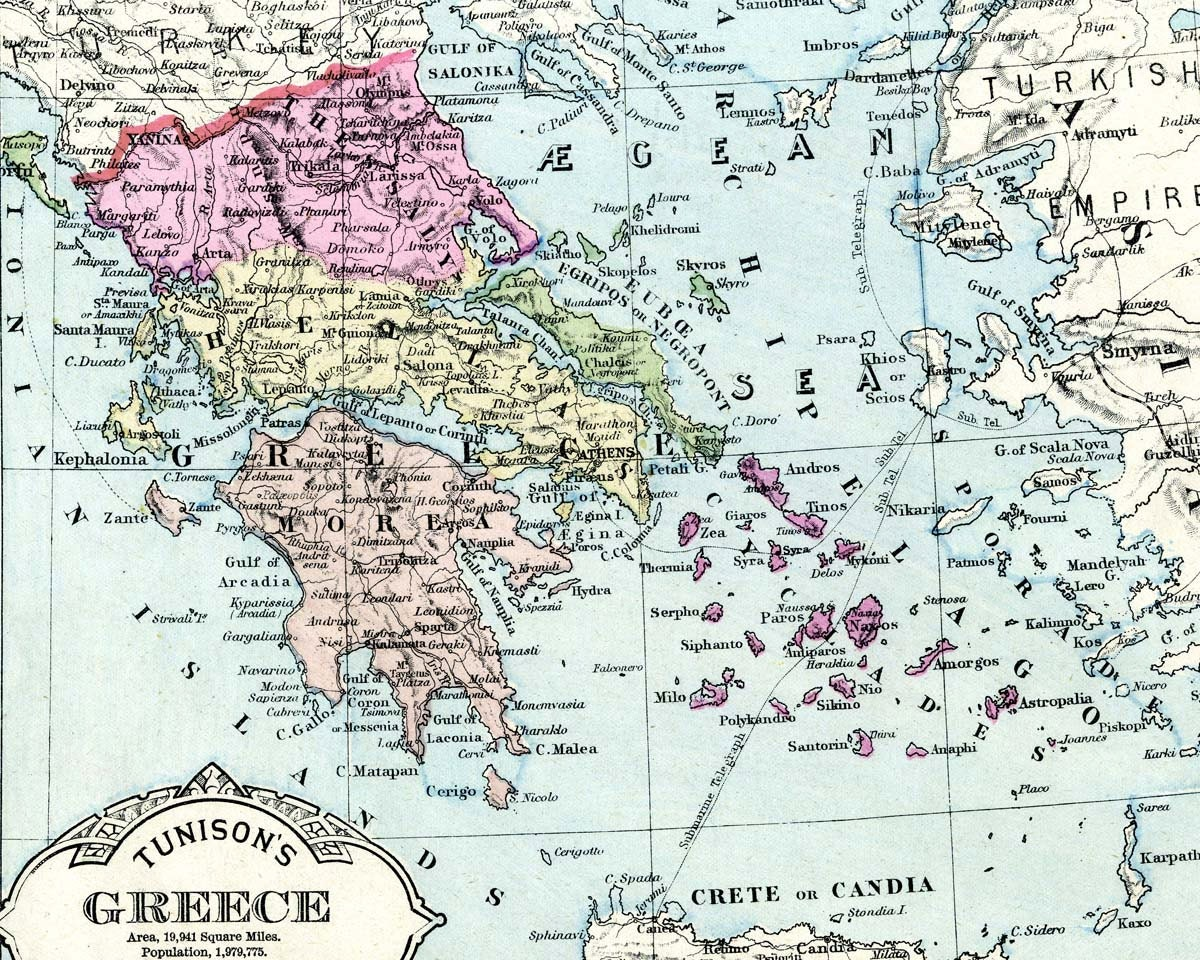 It is a picture of Luscious Printable Maps of Greece