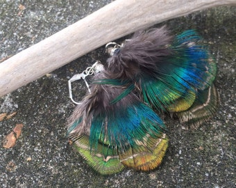 "Natural Feather Earrings - ""Adornment"""
