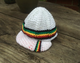 Rasta Baby Hats Hand Crocheted size 0-6 months
