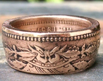 Coin Ring - 1957 Mexican 50 Centavos Coin Ring - Mexico Coin Ring - Size: 10 1/4
