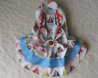 Dog Harness Dress sailboats XS