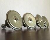 Reserved. Round Vintage  Knobs or Drawer Pulls. DIY, Furniture Redo.