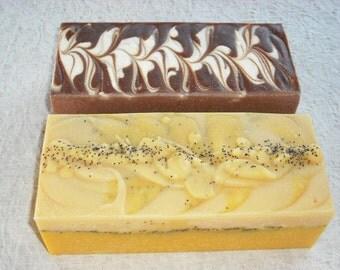 2 SOAP LOAVES - 2.5 lb or 3 lb. loaves / Bulk Soap / Wholesale Soap / Wedding Favors  Party Favors Shower favors / Cold Process Soap