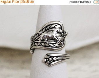 SALE Horse Spoon Ring
