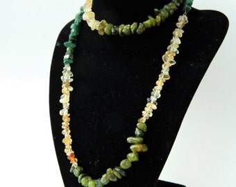 Abundance and Prosperity Power Trio Necklace with Peridot Citrine and Aventurine