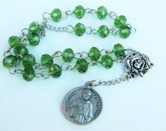 St. Peregrine Car Prayer Chaplet Rosary 2- Patron Saint of Cancer Patients