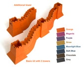 Great Wall of China, paper model kit with pre-cut details || choose from 8 colors || build as long as you wish