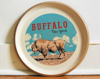 Vintage Buffalo New York Round Souvenir Tray.
