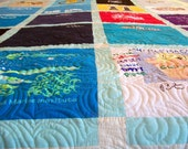 """Reserved for Lisa N. - Custom T-Shirt Quilt Twin Size 64"""" x 87"""" (20 T-Shirts) - BALANCE LISTING (50%)"""