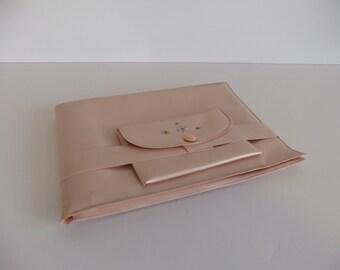 Vintage Toilet Seat Liner Tote, Pink Carrier, Hygiene, Bathroom, Public Restroom Protection