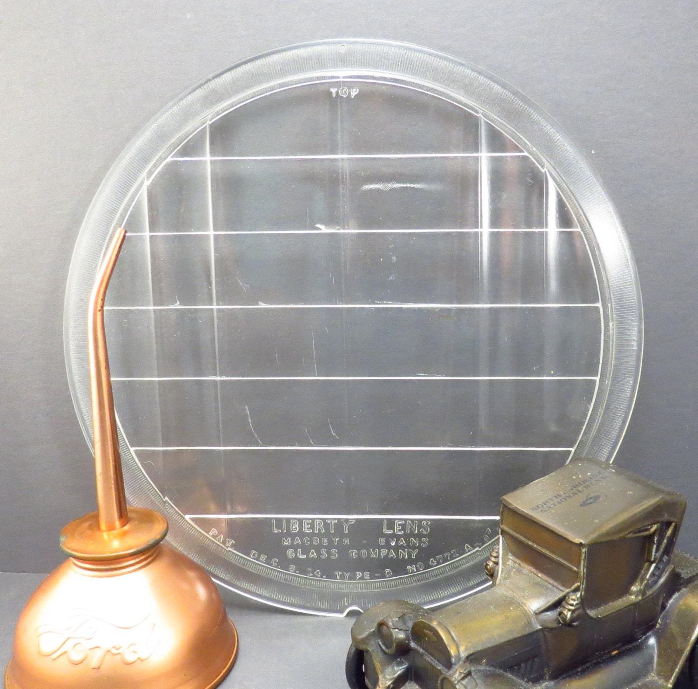 Antique Automobile Headlamps : Liberty lens antique car headlight glass vintage
