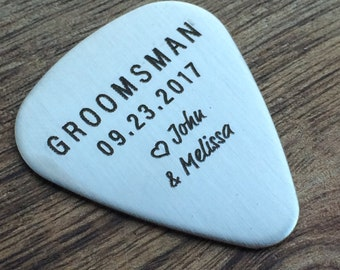 Groomsman Guitar Pick Groomsman Guitar Pick Groom Gift Groomsmen Wedding Party Gift Groomsman Personalized Gift Music Theme