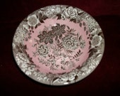 "SPODE JASMINE  Pink Bowl  Blue Room Garden Collection  8""  New Unused Shabby Chic"