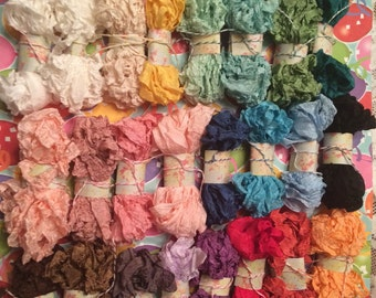 Seam Binding~15 Yards(45 Feet)-Crinkled Seam Binding~You Choose From 24 Colors-