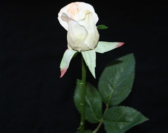 Vanilla Gina Rose Bud - Barely Blooming - Artificial Flowers, Silk Roses - PRE-ORDER