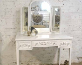 Painted Cottage Chic Shabby Romantic Vanity VAN732