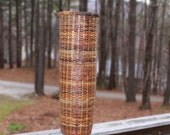 Tall Wicker Basket - multiple brown tones - sturdy and attractive - wonderful for storage and decor
