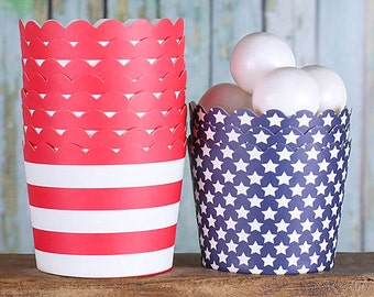 Small Patriotic Baking Cups, Red Cupcake Cups, Navy Baking Cups, 4th of July Baking Cups, Memorial Day Cupcake Cups, Patriotic Candy Cups
