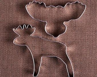 Moose Cookie Cutter Set, Moose Head Cookie Cutter, Animal Cookie Cutters, Christmas Cookie Cutters, Maine Cookie Cutters, Biscuit Cutters