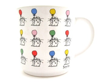Sandra Boynton Colored Balloons and Cat ALL OCCASION MUG