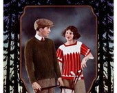 Minerva Knitting Book #10 c.1922 - Sportswear Patterns for Men and Women (PDF EBook DIgital Download) Plus Free Bonus Help Pages
