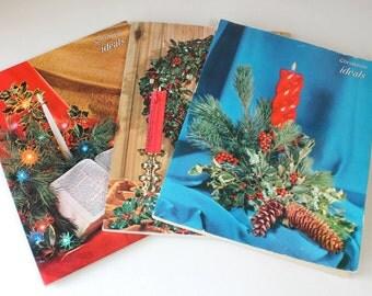 Mid Century Christmas Magazines, Ideals Magazines, Illustrated Christmas Stories, Retro Holiday, 1955 1962 1963 Christmas Nostalgia
