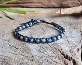 Sodalite Braided Leather Bracelets, Unisex Bracelet