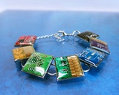 Rainbow circuit board bracelet