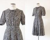 Léonor dress | Floral cotton peasant dress | 1970's by cubesandsquirrels | medium