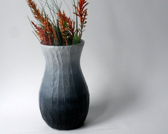 Black ombre Vase / black home decor / handcrafted vase / black flower vase / black housewares