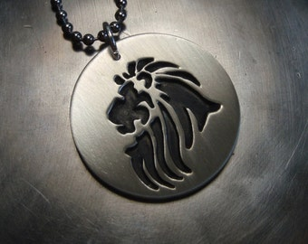 Lion Necklace in sterling silver - fresh from the bench