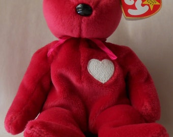 Valentina Beanie Bear w Tag--Ex Cond--Hard Find--20-70%  off SALES throughout our Shop