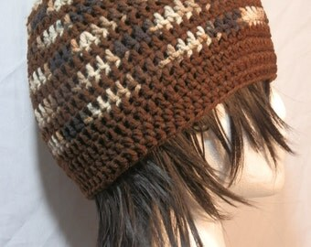 Brown and Camoflauge Beanie