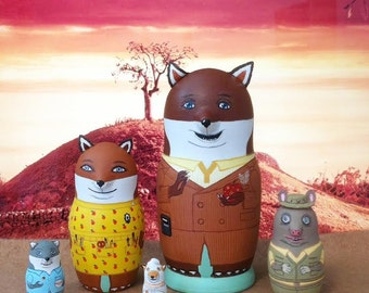 The (Mini) Fantastic Mr. Fox Matryoshka Dolls