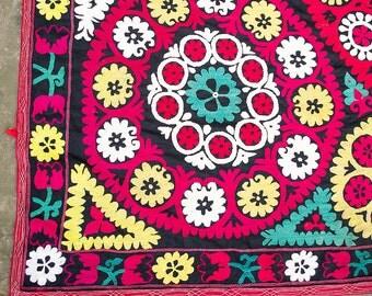 Vintage suzani embroidery