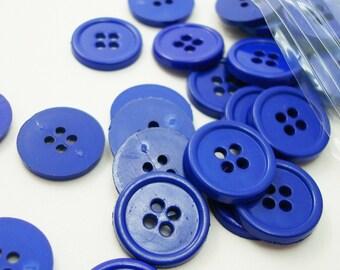 "5/8"" (16 mm) buttons, Deep Royal Blue, Qty 69"