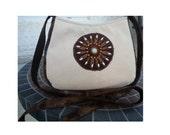 Beaded Boho Bag, small crossbody bag, custom boho Bag, Custom shoulder bag, faux snakeskin purse, yellow brown fabric, CarolJoyFashions77